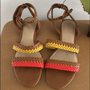 Also multi color braided sandals size 10